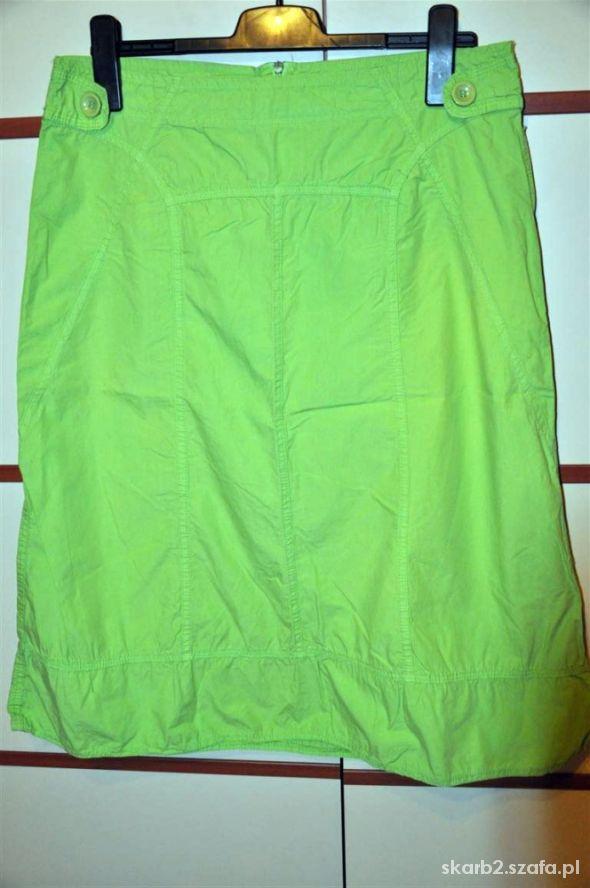 seledynowa oryginalna spódnica XL