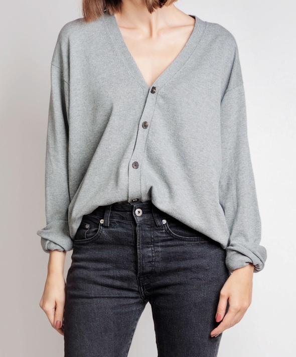 Szary sweter kardigan vintage 38 M