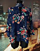 primark bluzka jak nowa modny wzór kwiaty floral hit 44...