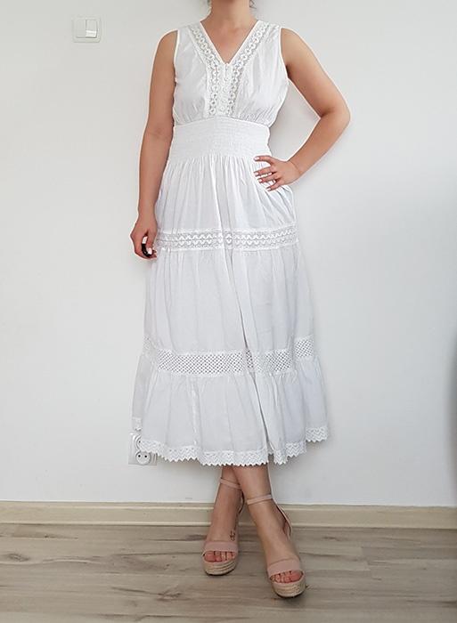 Suknie i sukienki Długa biała sukienka ASOS 40 L