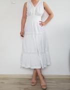Długa biała sukienka ASOS 40 L...