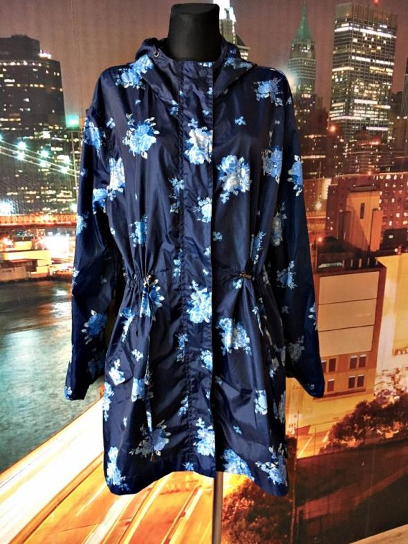 Odzież wierzchnia tu kurtka parka modny wzór kwiaty jak nowa kaptur 42