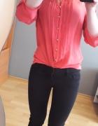 różowa elegancka koszula asymetryczna...