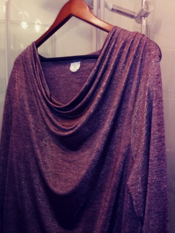 Bluzka damska elegancka 50 52 z polyskiem wizytówka...