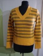 sweterek żółty w paski...