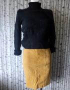 Ruda spódnica z zamszu naturalnego M...