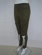 Goth gothic spodnie sznurowane gotyckie khaki...