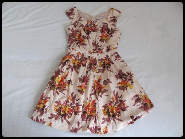 Sukienka jedwab super stan z podszewka Pepperberry XL