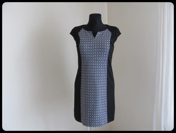 Elegancka sukienka czarnobiała rozmiar M 38 NEXT