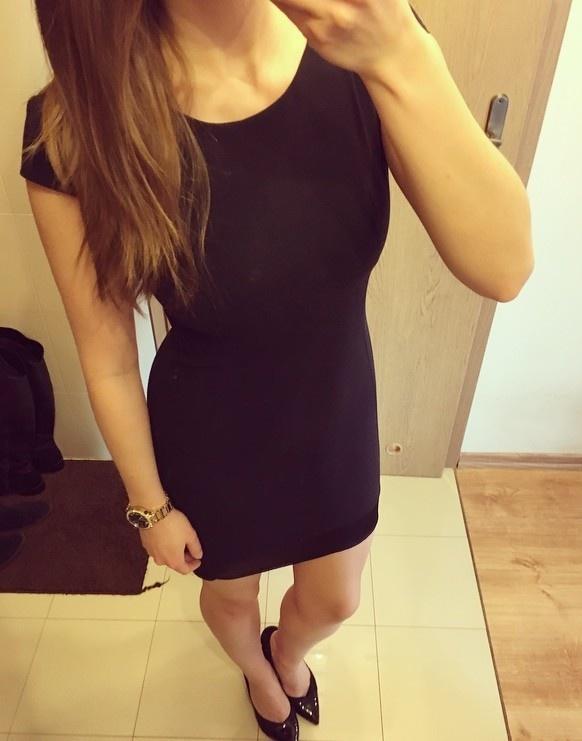 Reserved mała czarna klasyczna elegancka sukienka asymetryczna ...