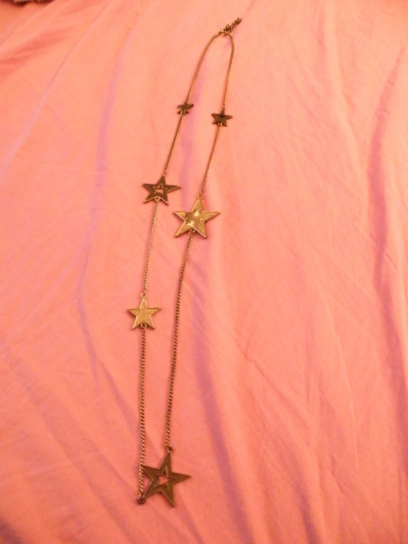 Naszyjnik z gwiazdkami metalowy