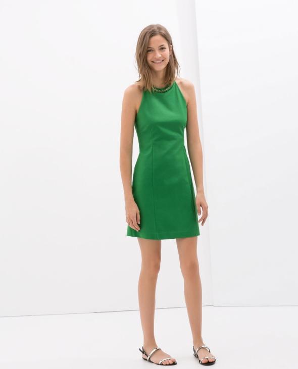 Zara S zielona sukienka nowa