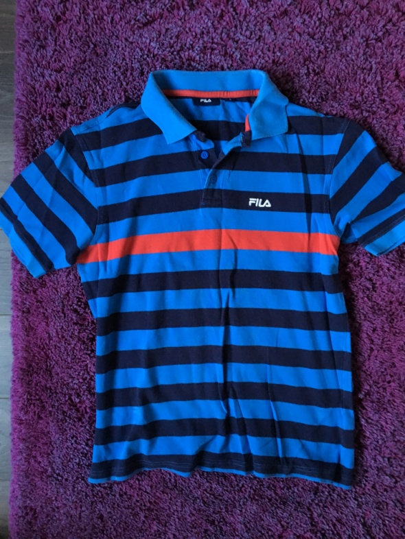 Niebieska koszulka w paski FILA L...