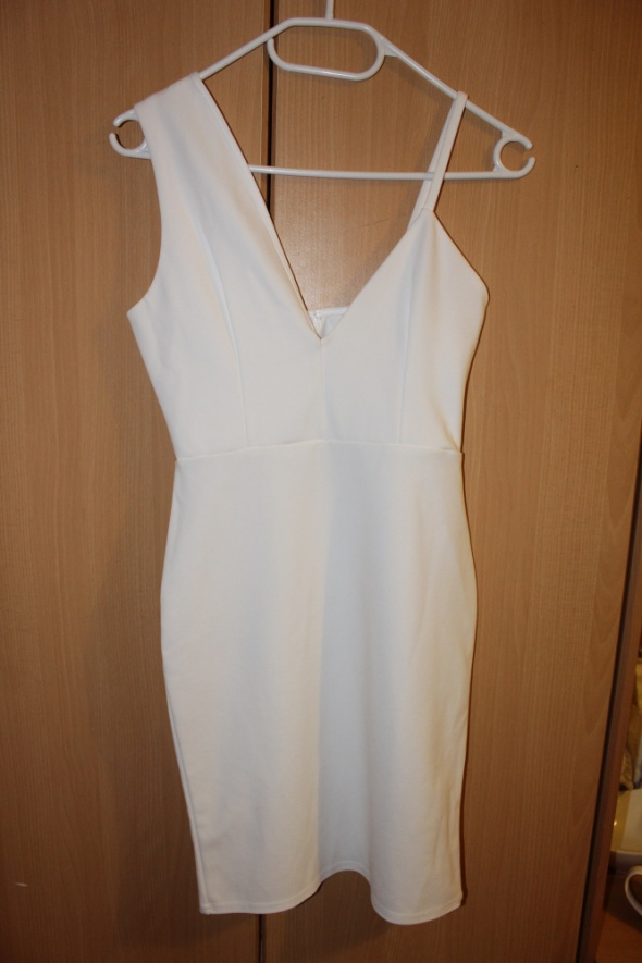biala sukienka 34 xs