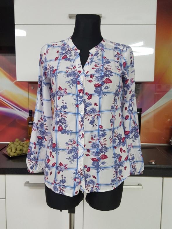 biało fioletowa bluzka M&CO...