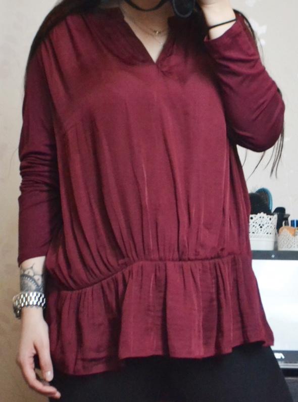 Nowa burgundowa bluzka boho duży rozmiar plus size XL 42 XXL 44