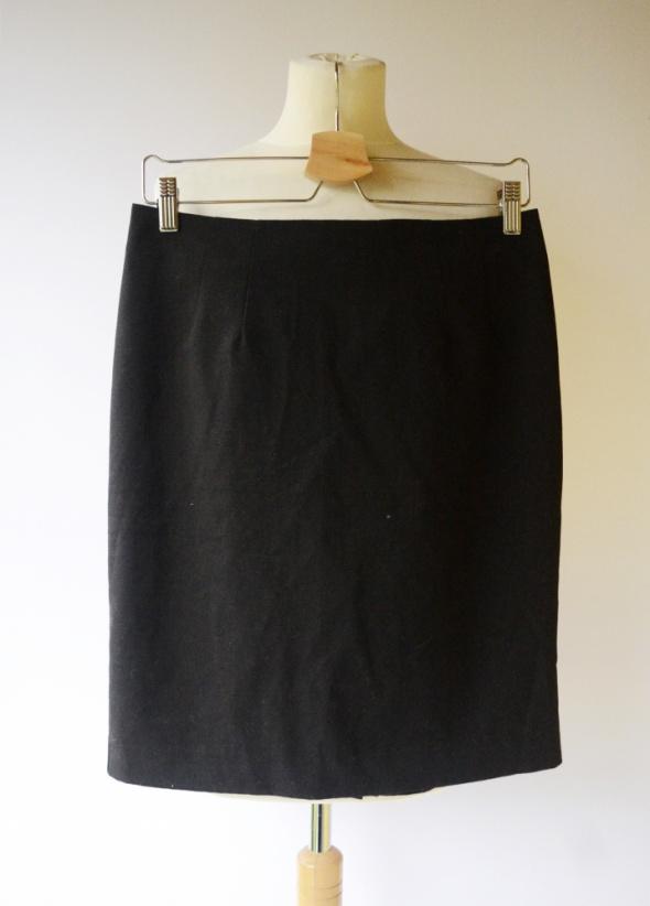 Spódniczka Czarna H&M L 40 Ołówkowa Do Pracy Czerń...