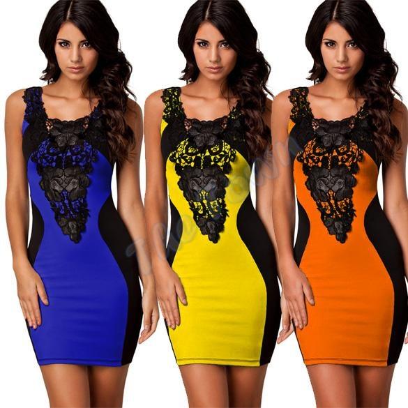 Sukienka wyszczuplająca z gipiurą rozmiar M LATO