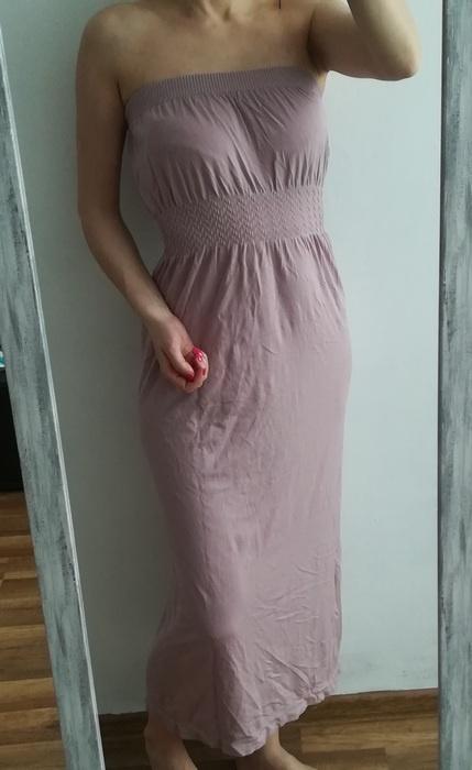 Primark sukienka maxi liliowa M L