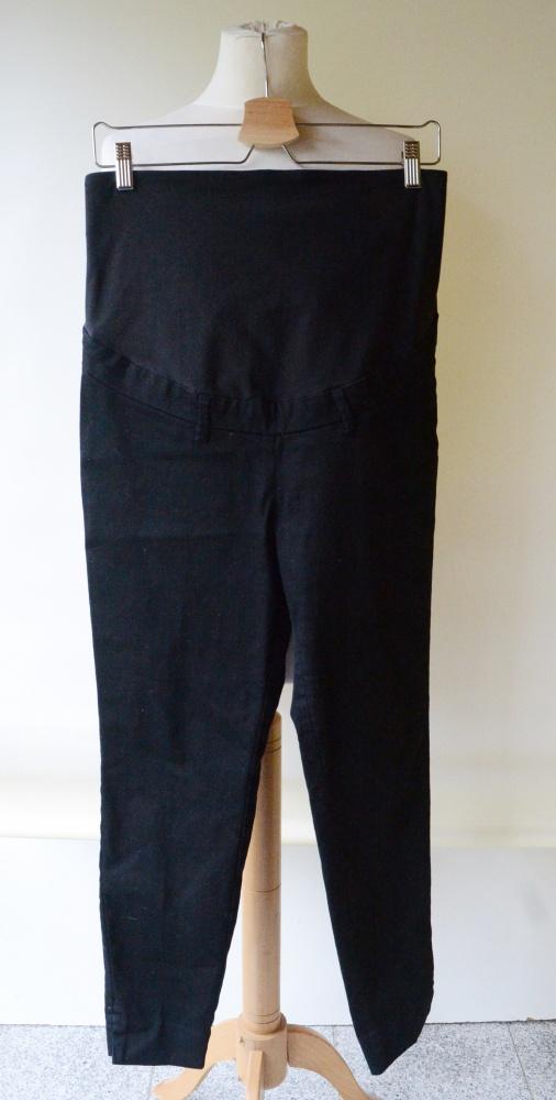 Spodnie H&M Mama L 40 Ciążowe Czarne Wizytowe Pracy