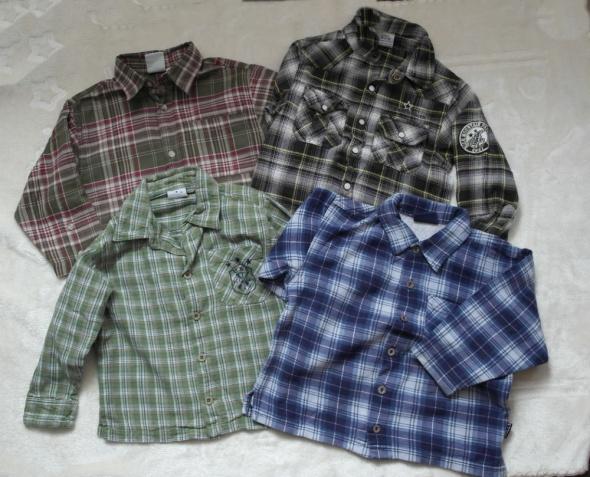 W krateczkę cztery koszule 98 110