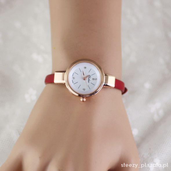 zegarek pasek czarny biały czerwony brązowy