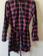 Tunika sukienka koszulowa w kratę...