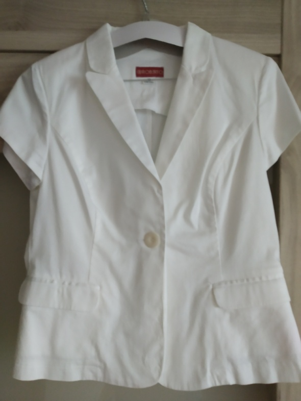 biały żakiet marynarka 42