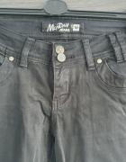 Czarne spodnie jeans z dziurami na kolanach Monday Jeans...