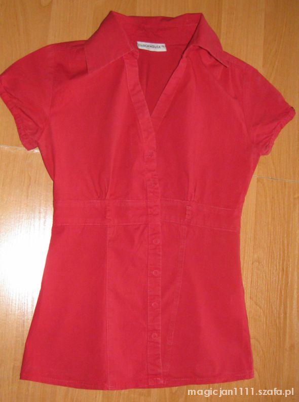 Czerwona elegancka koszula C&A rozmiar 36 S