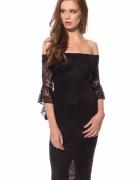 Sukienka Ax Paris Midi Bardot Black 36...