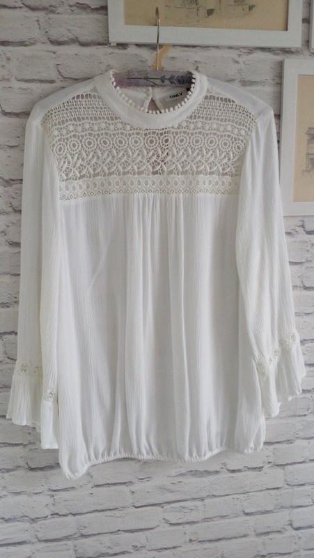 Biała bluzka boho rozmiar 40 od Only...