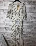 Maya Deluxe Bogato Zdobiona Sukienka Maxi 32 XXS...