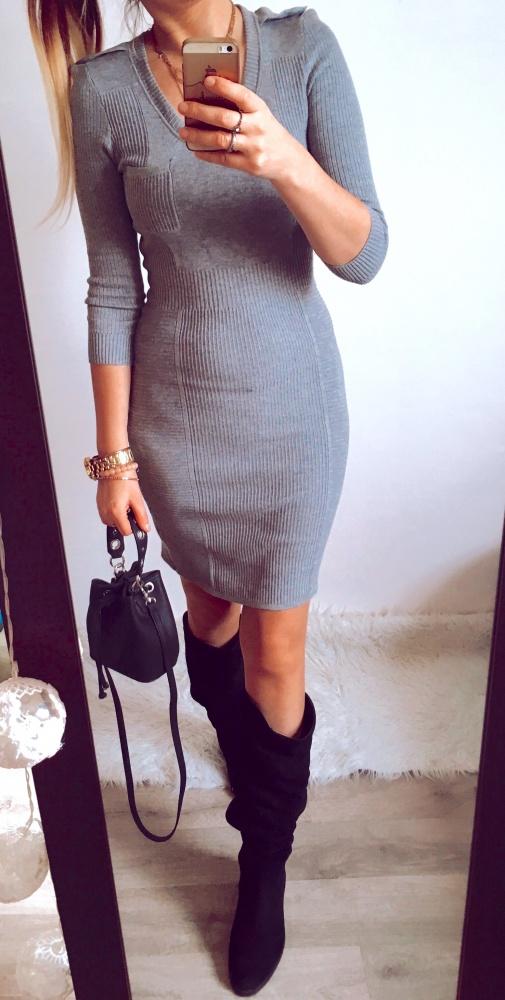 Sukienka Damska szara H&M rozmiar S