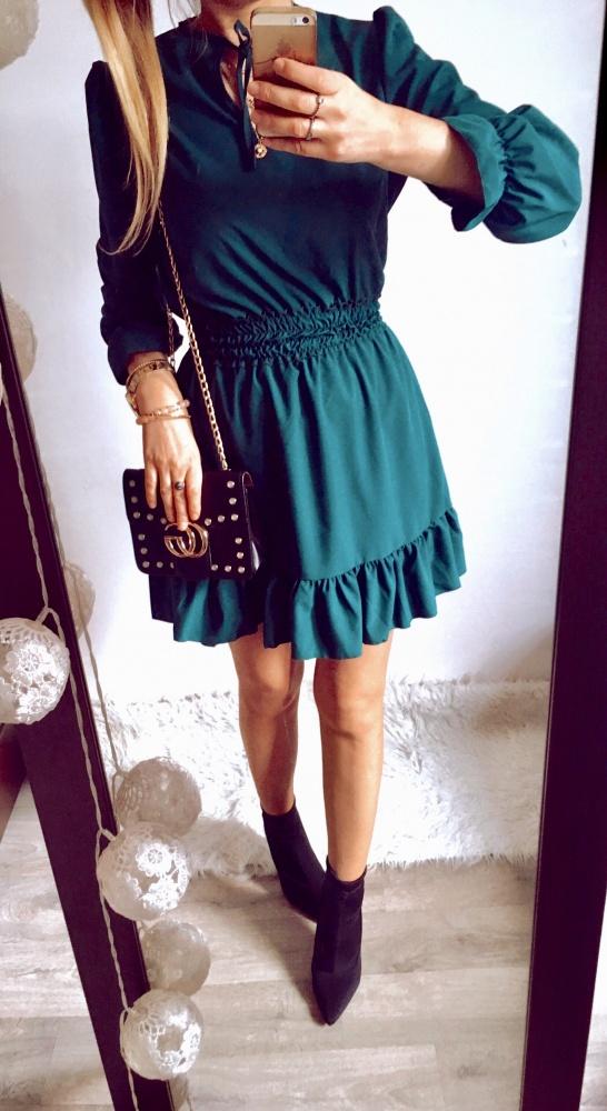 Sukienka Damska butelkowa zieleń SM