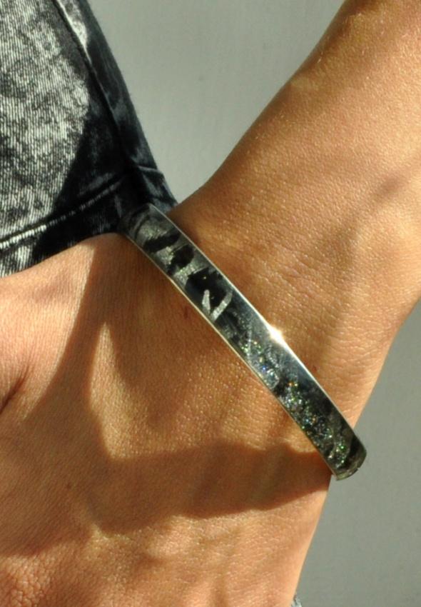 czarno srebrna bransoletka