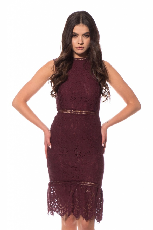 Sukienka Ax Paris Midi Lili Lace Plum 42...