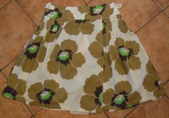 Spódnica w kwiaty Soft Grey 40 L