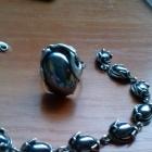 sprzedam srebrny kpl bransoletka i pierścionek