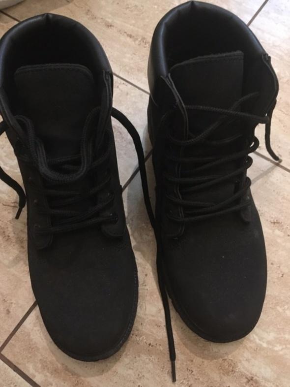 czarne buty trapery 37