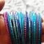 kolorowe bransoletki cienkie 22 sztuki