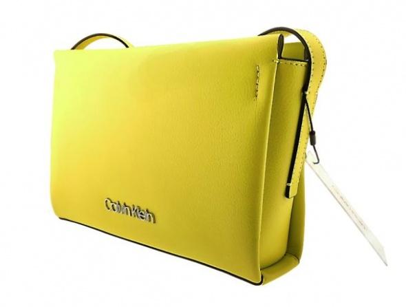 Limonkowa torebka Calvin Klein