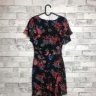 Lipsy Asymetryczna Sukienka Kwiatowy Wzór 40 L