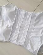 Body białe usztywniane siateczka strój kąpielowy...