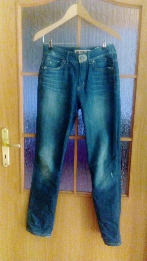 Spodnie jeansy Big star wysoki stan przetarcia 38
