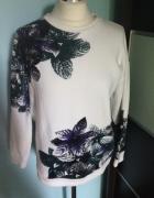Cos zara bluza top bluzka print kwiaty rozm 34