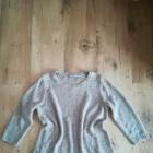 Modny bezowy sweter cekiny M