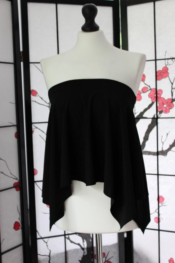 bluzka spódnica czarna elegancka mini