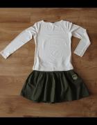 Spódnica mini zielona S M styl militarny...