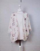 6 34 XS New Look Białe kimono narzutka w kwiaty...